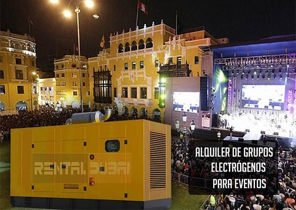 grupos electrógenos para eventos